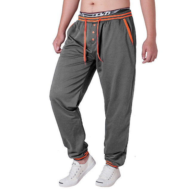 Minimalist Button Style Men Jogger Pants Sweatpants Crosspants