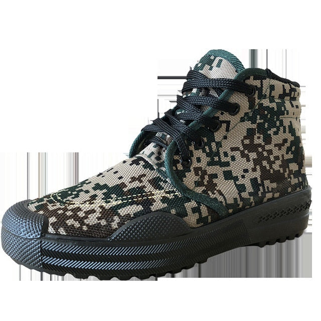 Camouflage Military Breathable Canvas Casual Men Sneaker