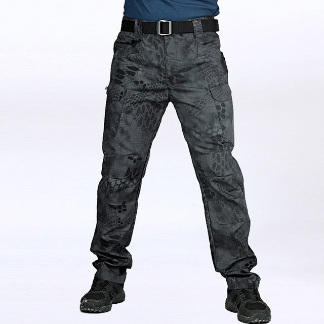 Tactical Pants Multiple Pocket Military Slim Fat Cargo