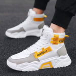 High Top Soft Casual Leisure Breathable Flat Style Men Sneaker