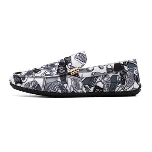 Casual Summer Doodle Soft Breathable Men Loafers Shoes