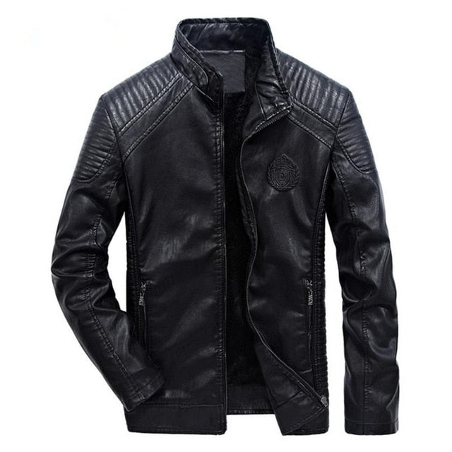 Classic Masculine Biker Style Men PU Leather Jacket - FanFreakz