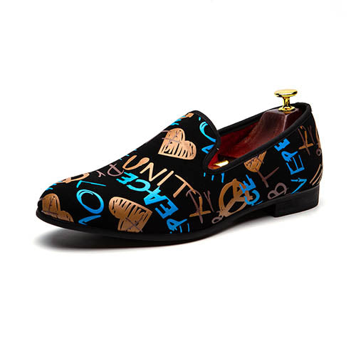 Bright Graffiti Details Men Loafers Shoes - FanFreakz