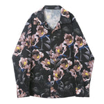 Vintage Loose Blossom Printing Men Long Sleeves Shirts