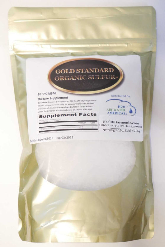 Organic Sulfur MSM Gold Label MSM
