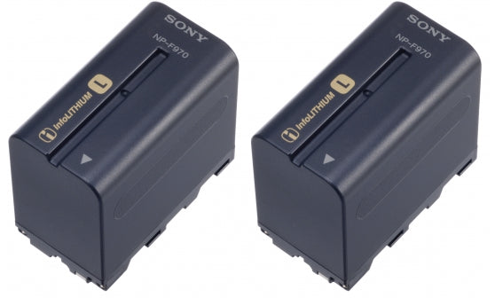 2NP-F970/B (2NPF970/B) Info-Lithium Battery Twin Pack - Avit Digital