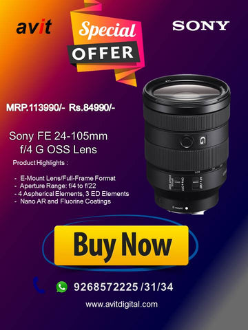 FE 24–105 mm  F4 G OSS Lens SEL24105G - Avit Digital