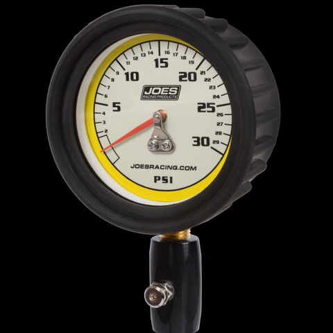JOES 0-30PSI PRO TIRE GAUGE WITH HIGH FLOW HOLD