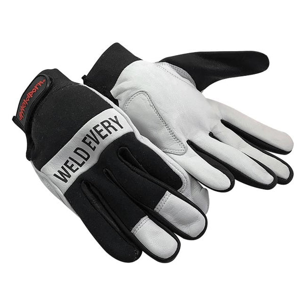WEDD Heavy Duty Tig Gloves – Black & White  by Outlaw Leather.