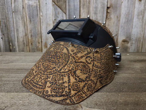 Aztec on elephant leather welding hood