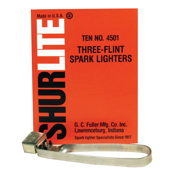 Spark Lighters, Tri-Flint Lighter  by Outlaw Leather.