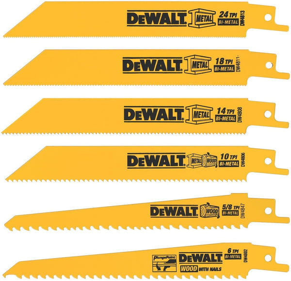 Metal/Woodcutting Reciprocating Saw Blade Set, 6-Piece  by Outlaw Leather