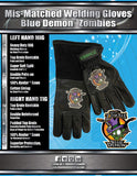 ZOMBIES Mis-Matched MIG Gloves  by Outlaw Leather