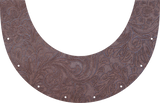 Brown Floral Top Bib  by Outlaw Leather