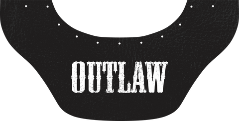 Custom Name Bottom Bib  by Outlaw Leather