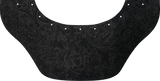 Black Floral Suede Bottom Bib  by Outlaw Leather