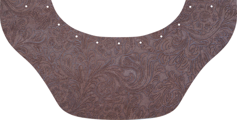 Floral Brown Bottom Bib  by Outlaw Leather