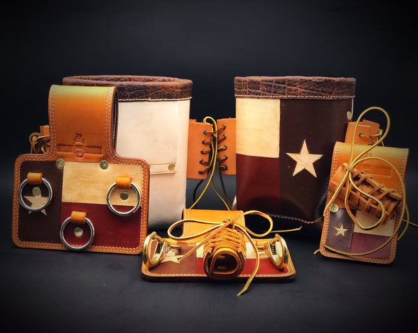 Custom Texas Iron Worker Set  by Outlaw Leather