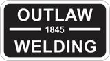 Outlaw Welding Sticker  by Outlaw Leather