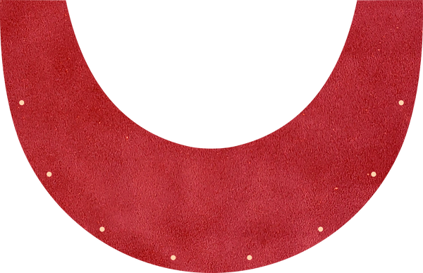 Red Suede Top Bib  by Outlaw Leather