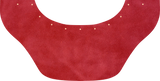 Red Suede Bottom Bib  by Outlaw Leather