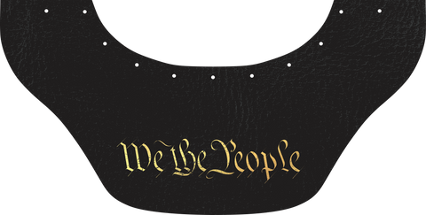 We The People Bottom Bib  by Outlaw Leather