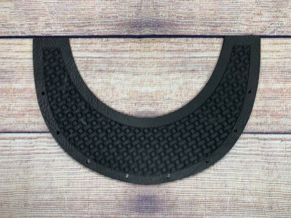 Basketweave with sleek Boarder Top Bib  by Outlaw Leather
