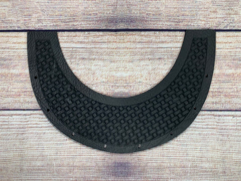 Basketweave with sleek Boarder Top Bib - Outlaw Leather