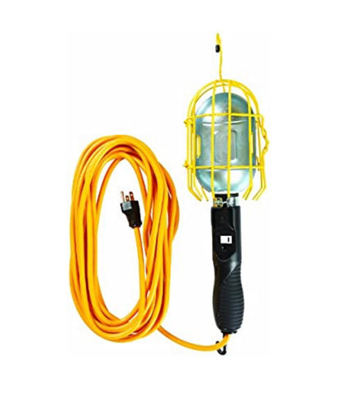 Yellow Jacket 2893 16/3 SJTW Trouble Light Work Light with Metal Guard and Outlet, 25-Feet  by Outlaw Leather