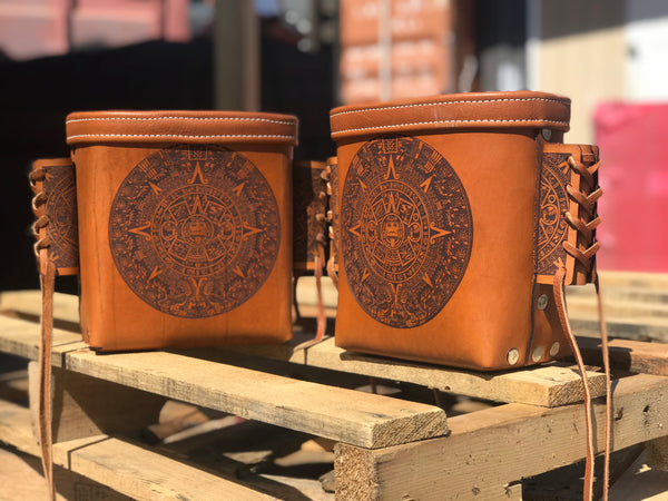 Aztec Bolt Bags  by Outlaw Leather