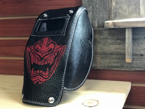 Samurai Pocket Welding Mask  by Outlaw Leather