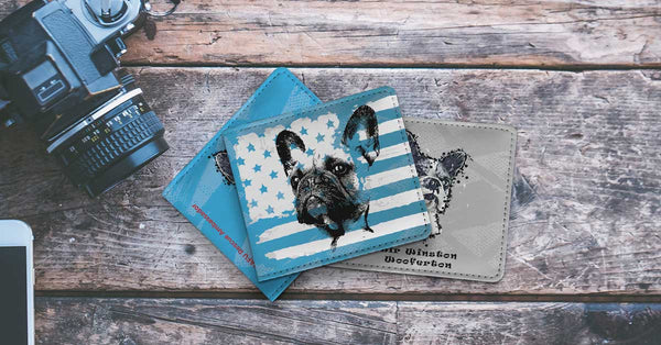 Shop our unique Collection of Men's Wallets for Dog Lovers.
