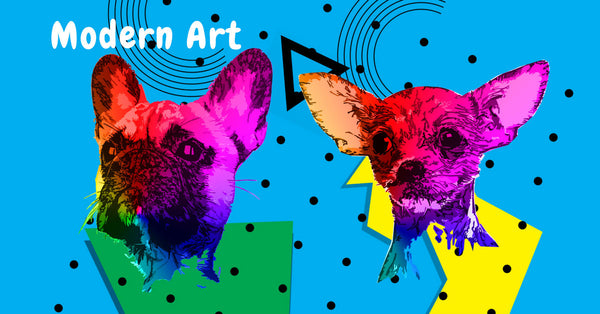 Shop our Colorful Modern Art Collection for Dog Lovers