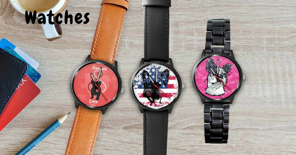 Shop our unique Collection of Fashion and Custom Watches For Dog Lovers.