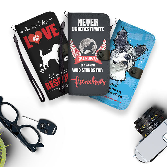 Fashion Accessory Wallet Phone Cases For Dog Lovers