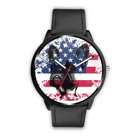 Patriotic USA Flag French Bulldog - Watch