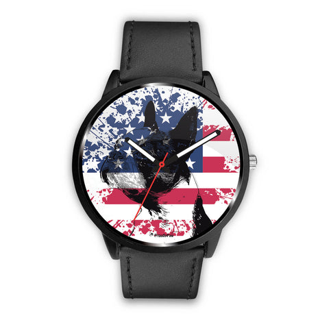 Patriotic USA Flag Boston Terrier - Watch