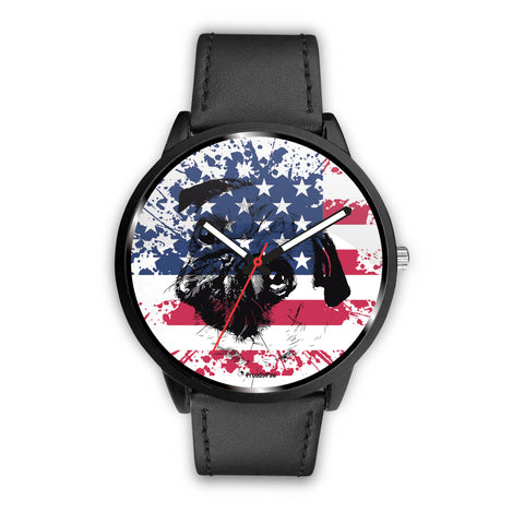 Patriotic USA Flag Pug - Watch
