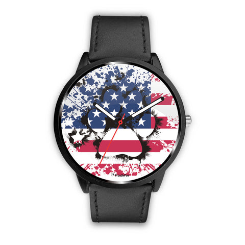 Patriotic USA Flag Paw - Watch