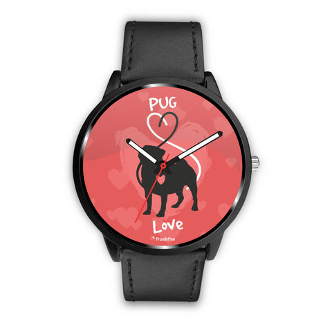 Love Heart Pug - Watch