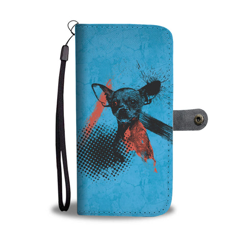 Chihuahua Trash Polka Tattoo Style - Wallet Phone Case