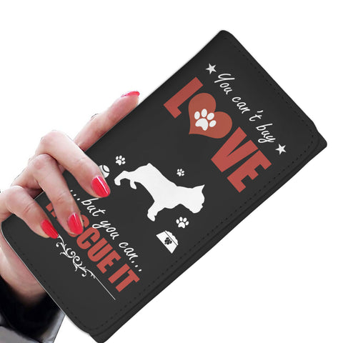 You Can't Buy Love - French Bulldog - Women's Wallet Purse
