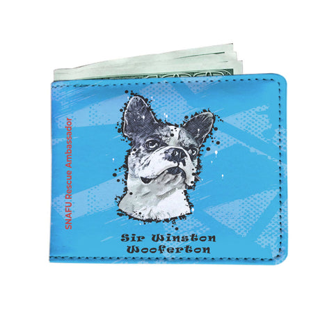 Sir Winston Wooferton SNAFU Rescue - Paint Art Blue Edition - Men's Wallet