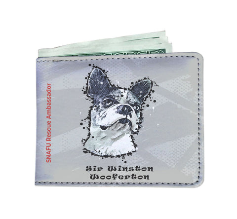 Sir Winston Wooferton SNAFU Rescue - Paint Art Silver Edition - Men's Wallet