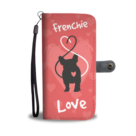 Love Heart French Bulldog - Wallet Phone Case