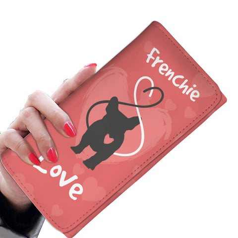 Love Heart French Bulldog - Women's Wallet Purse