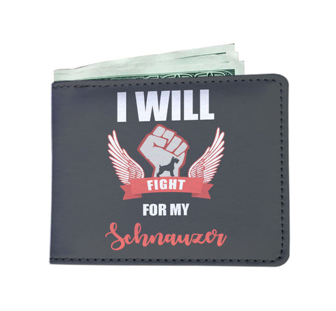 I Will Fight For My Schnauzer - Men's Wallet