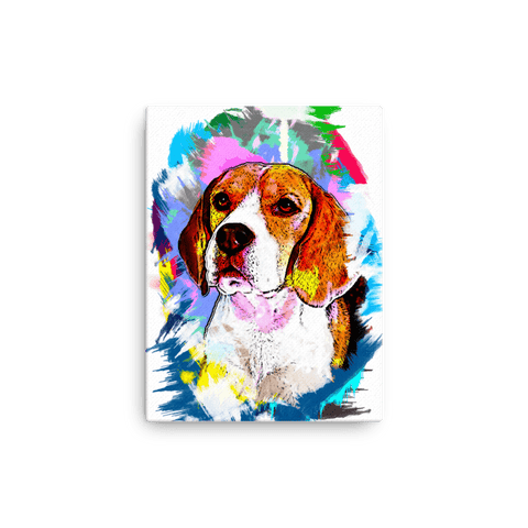 Beagle Artistic Photo Art Canvas 12x16