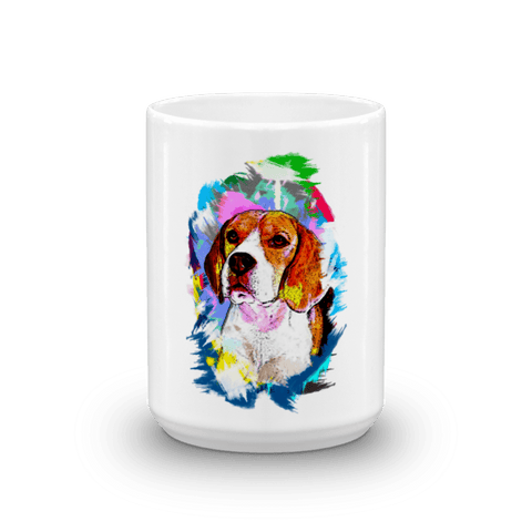 Beagle Artistic Photo Art 15oz Mug - Front View
