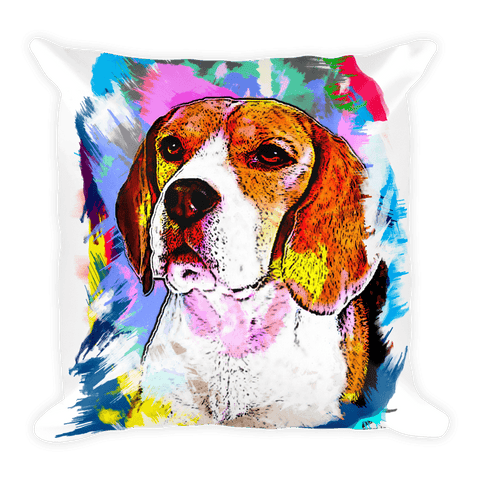 Beagle Artistic Photo Art Decorative Pillow - Front View